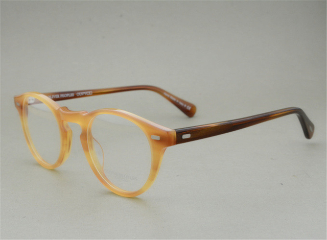 0fbdcc99335 Famous Brand Oliver Peoples Eyeglasses Gregory Peck OV 5186 Oval Vintage  Myopia Glasses Frame Men and