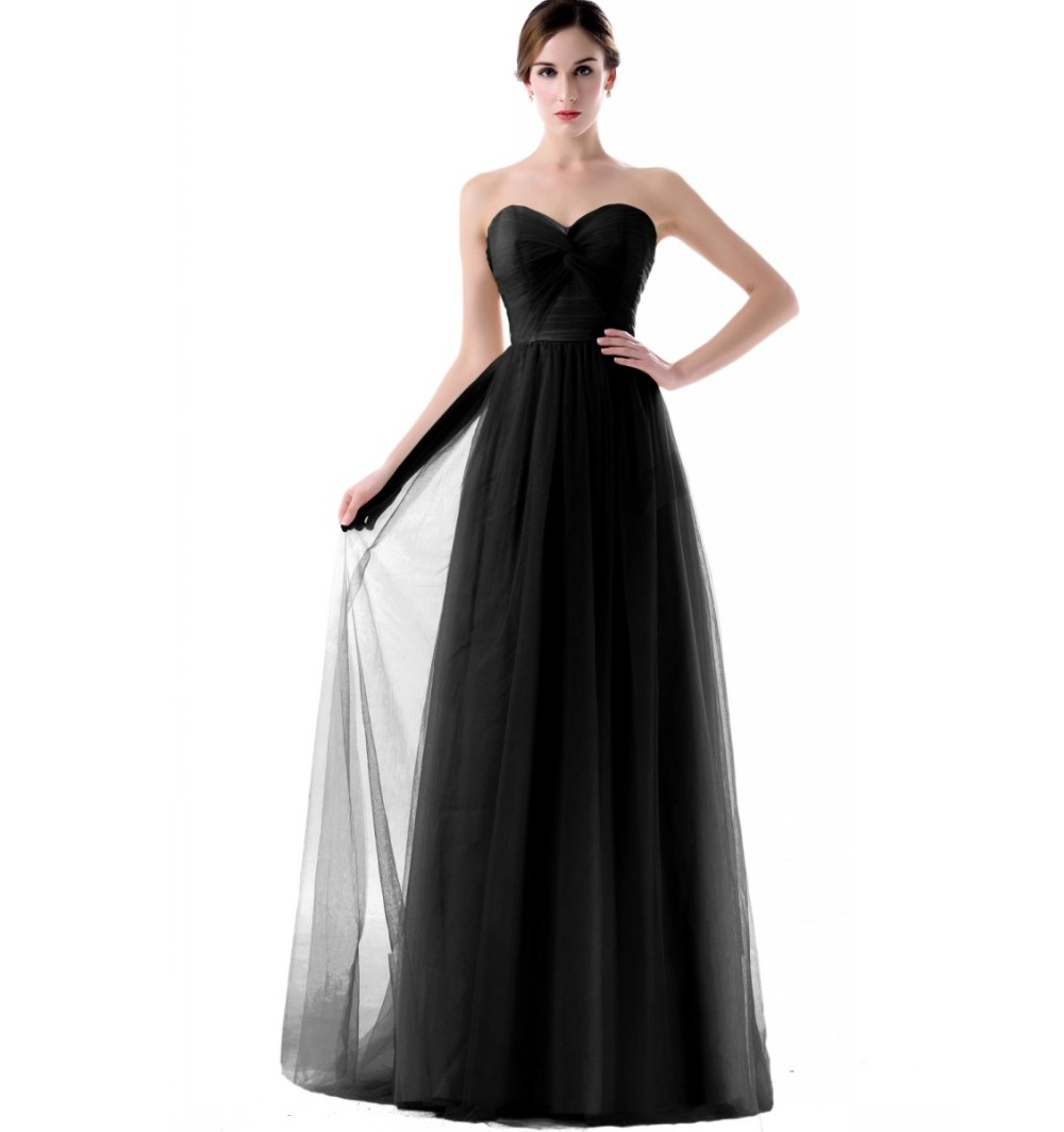 Strapless Tulle Long Floor Length Bridesmaid Dress Royal Blue Pink ... 31fd2ec9e24e