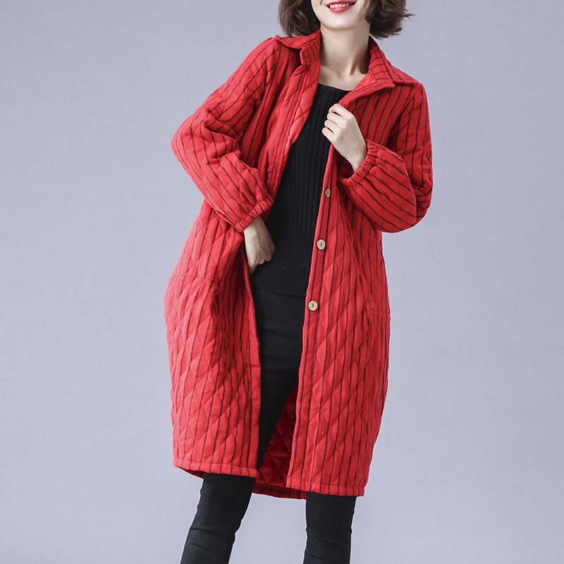 Long Hiver Cw132 Parka Nouveau Solide Lâche De Bande Black 2018 Survêtement Veste Coton Grande Chaud Automne Manteau Mode Femmes Épaissir red Taille TAdxqHv