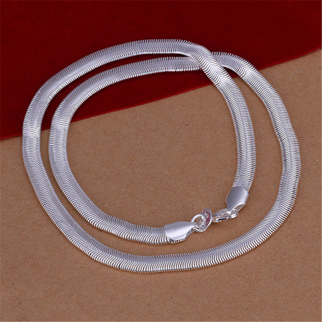 43fcff02a3ad Cadena de plata de la manera de los hombres clásicos modelos de Color collar  de cadena