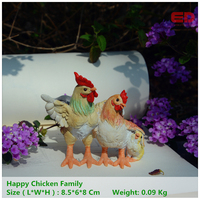 Everyday Collection Mini Animals Craft Chicken Family Fairy Garden Miniatures Ornaments Garden Decoration Mother S Day