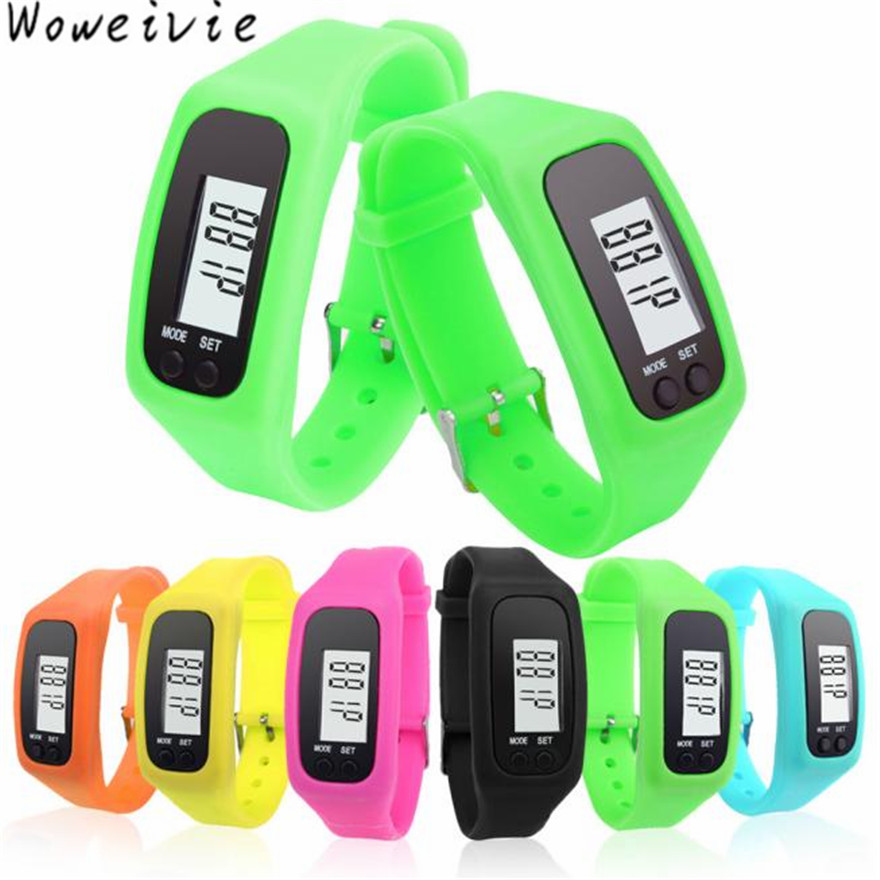 Digital LCD Pedometer Run Step Walking Distance Calorie Counter font b Watch b font Bracelet