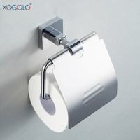 Xogolo Solid Copper Polished Chrome Towel Paper Holder Wholesale And Retail Bathroom Toilet Paper Holder