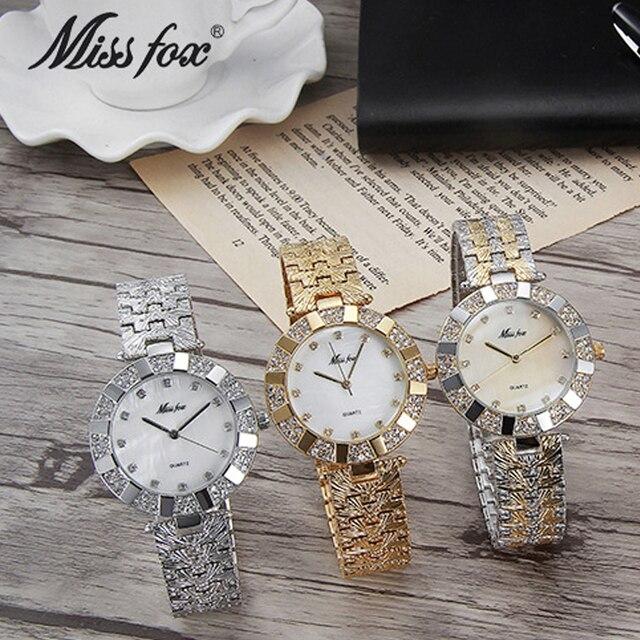 La signorina fox 2062 donna della vigilanza del quarzo delle signore Orologi Da Polso marca superiore di lusso femminile braccialetto orologi in oro dress relogio feminino