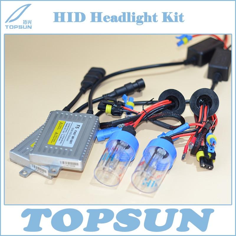 Free Shipping  Car Light Kit Anti-UV HID Bulb H1 H3 H7 H8 H9 H11 9005 9006 D2H 12V 55W and DLT Fast Bright F5 AC Digital Ballast