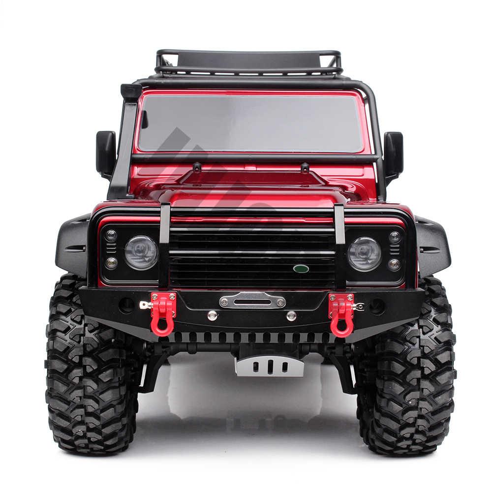 Injora металлический передний бампер со светом для 1/10 RC автомобиль гусеничные осевой SCX10 90046 Traxxas TRX-4 TRX4