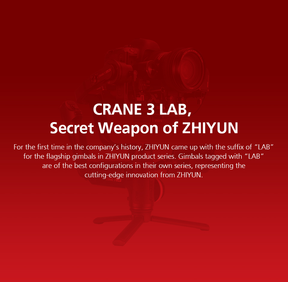 Zhiyun Crane 3 Lab Crane 2 Upgrade Version 3-Axis Gimbal Stabilizer for DSLR Cameras, 1080P Full HD Wireless Image Transmission 2