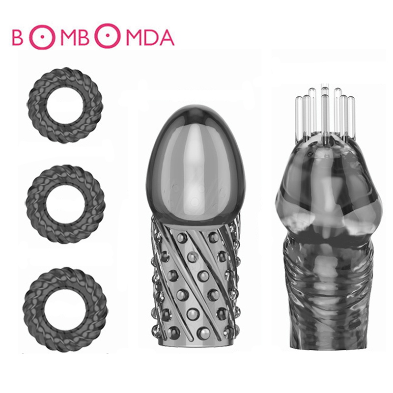 Buy Male Glans Exerciser Penis Head Massage Penis Ring Delay Ejaculation Cock Sleeve Lasting Trainer Ring Adult Sex Toy Men