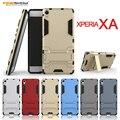 Para sony xperia xa armadura kickstand phone case heavy duty tampa de proteção para sony xperia xa pc + tpu 2 em 1 híbrido capa para y26