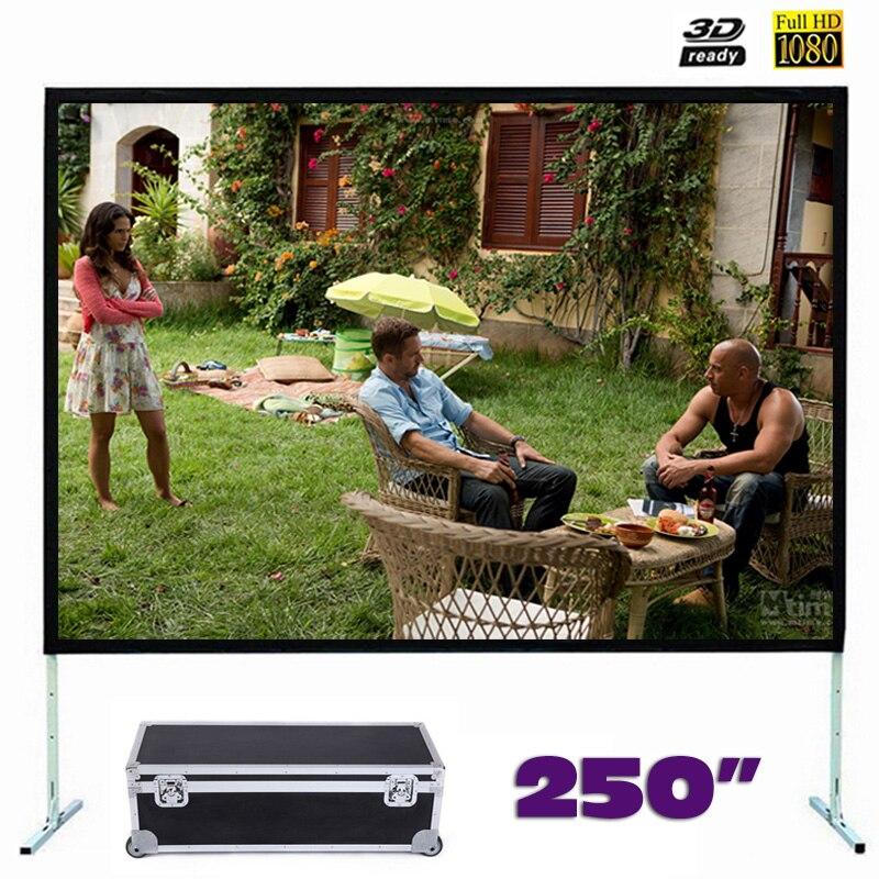 Écran de Projection à pliage rapide de grande taille 250 pouces écrans de Projection à pliage rapide avec cadre 4:3/16:9 en option
