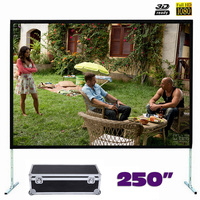 Large Size Fast Fold Projector Screen 250 Inches Quick Folding Projection Screens With Frame 4 3
