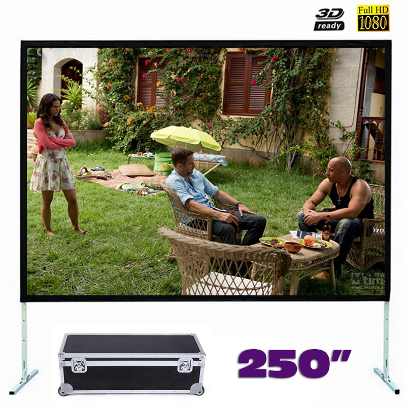 Large size Fast Fold Projector Screen 250 inches Quick Folding Projection Screens with Frame 4:3/16:9 optional new hd 150 inch projector screen 4 3 fast fold front projection screens with strong frame portable carry case for outdoor page 2