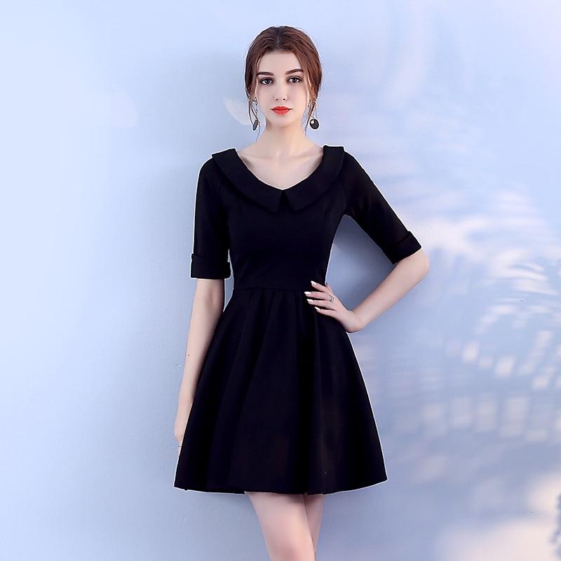 Black Colour Knitted Mini Dress Bridemaid Dress Women Wedding Party Dress Back Of Zipper