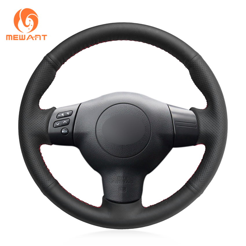 MEWANT Black Artificial Leather Car Steering Wheel Cover for Toyota Corolla 2004-2006 Caldina 2002-2007 RAV4 (US) 2004-2005 mewant black artificial leather car steering wheel cover for peugeot 206 1998 2005 206 sw 2003 2005 206 cc 2004 2005