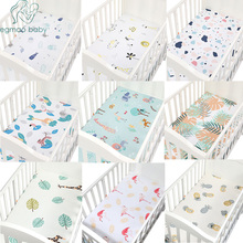 100% Cotton Baby Crib Fitted Sheet Soft Breathable Baby Bed Mattress Cover Cartoon Print Newborn Bedding For Cot Size 130*70cm