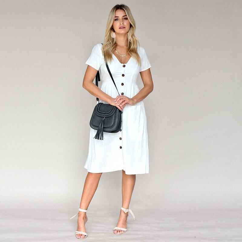 2019 new Short sleeve women's dress bow tie long dress Slim fashion wild self-cultivation pleated dress
