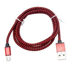 Image 2 - 3FT trenzado de aluminio USB Cable de datos para Android rojo nuevo Cable de alta calidad de moda rojo USB Android para dispositivos inteligentes