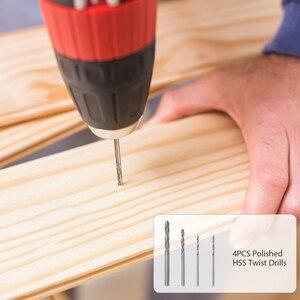 """Image 3 - Meterk Juego de accesorios para herramientas rotativas, 349 Uds., 1/8 """", Kit de accesorios para amoladora eléctrica, lijado, perforación de grabado"""