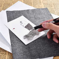 QIPA 100 Pcs/Set A4 size Thin Painting Accessories Legible Tracing Reusable Copy Clear High Quality Graphite Carbon Paper