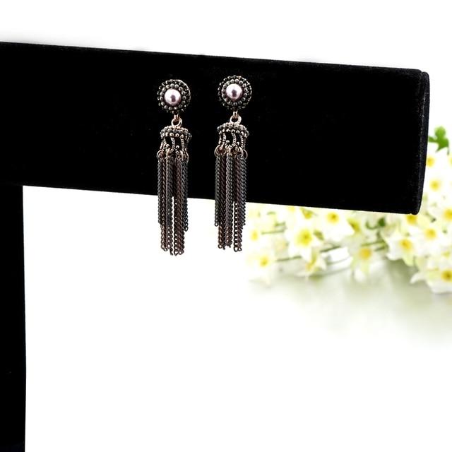 Фото модные жемчужные серьги toucheart модные ювелирные изделия подарки