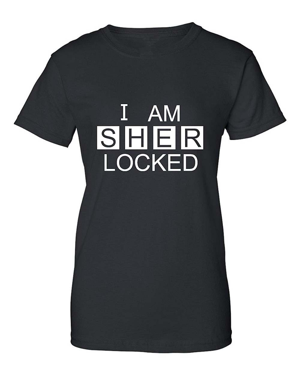 Shirt design inspiration - Cool T Shirts Women S Crew Neck Short Design T Shirts I Am Sherlocked Sherlock Holmes Inspired