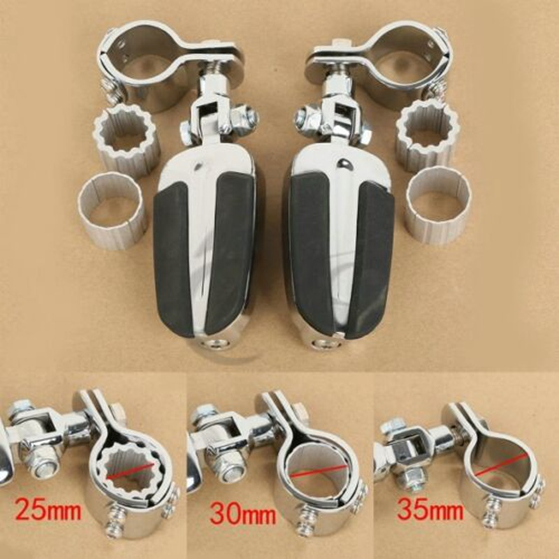 Motorcycle Chrome Foot Pegs Footrest & Clamps For Honda GL1800 01-11 VLX600 DLX600 Shadow VT600 VT750 KAWASAKI VULCAN VN400