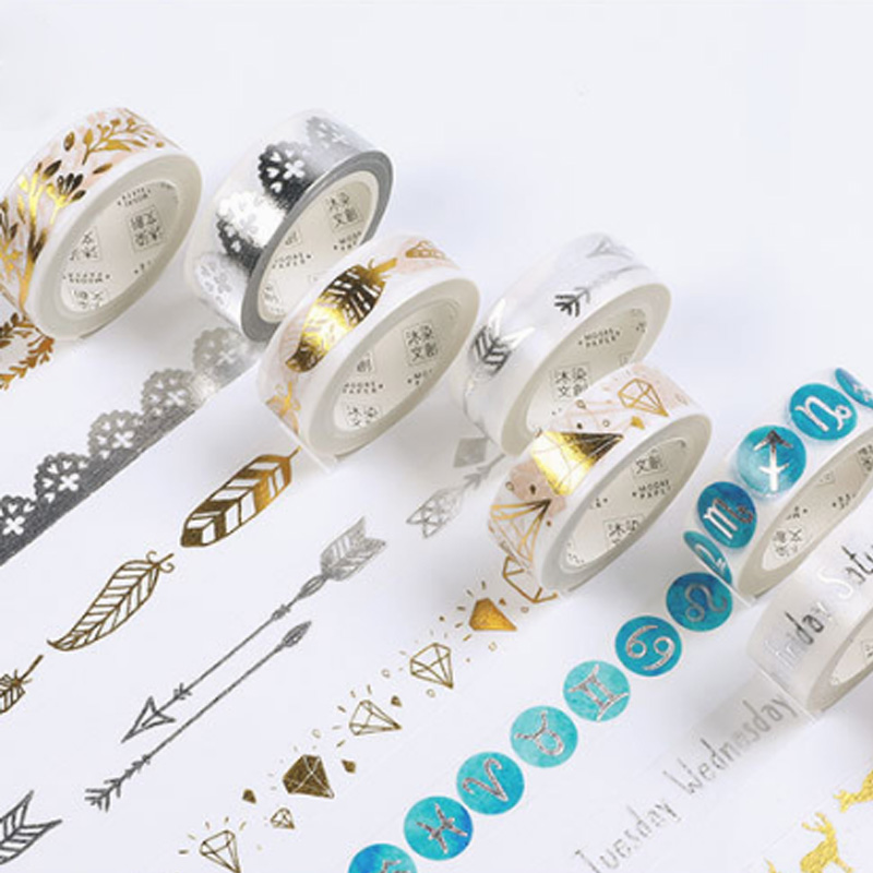 1X Watercolor gold series Diary Decorative Washi Tape Scrapbooking DIY Sticker Adhesive tape Masking Tape Office stationery coloffice creative stationery bronzing series sweet memoria washi tape 40mmx5m for you adhesive tape scrapbooking decorative