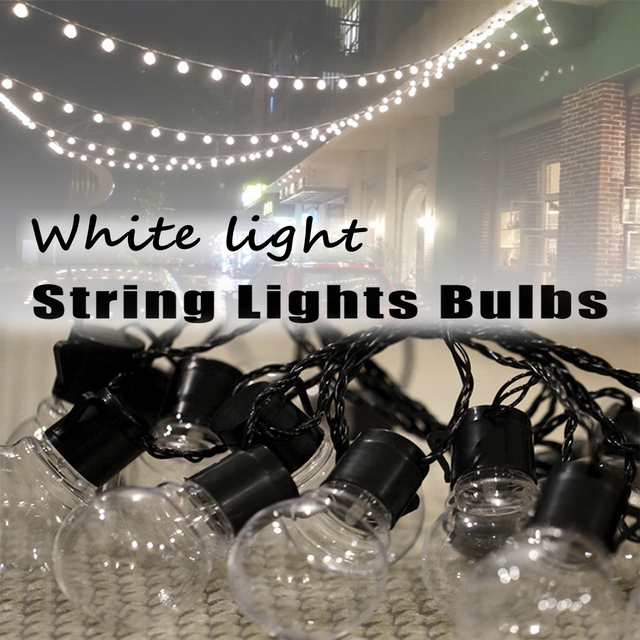 10/20 Pcs USB Globe Bulbs Outdoor Waterproof Commercial Grade Patio Globe  String Lights Bulbs