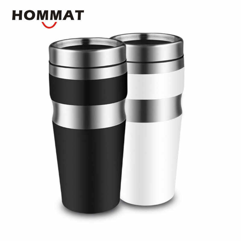 e93f89dec31 Double Wall Stainless Steel Travel Mug Tea Cup Coffee Mug Water Bottle  Tumbler Mugs 450 ml
