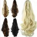 Синтетические волосы хвост парик парики коготь клип на пони-хвост длинные волнистые хвост натуральных волос коса афроамериканец парики