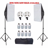 50CM*70CM 1 To 4 Softbox Holder+2M Light Stand For  Photo Video Studio Diffuser Free Shipping
