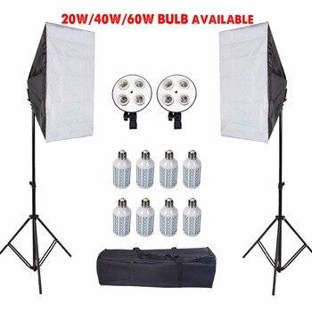 Светодиодный софтбокс для фотографии со штативом, софтбокс для фотостудии, тент, рассеиватель для камеры E27, держатель для лампы, аксессуары