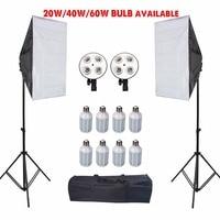 Фотографии светодиодный софтбокс с штатив Стенд Фотостудия софтбокс палатка фары комплект для рассеиватель для камеры E27 держатель лампы а...