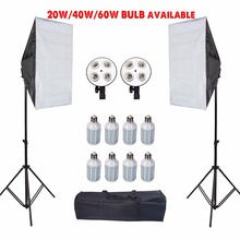 Fotografie Led Softbox Met Statief Stand Photo Studio Soft Box Tent Lights Kit Voor Camera Diffuser E27 Lamphouder Accessoires