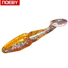 6pcs NOEBY Soft Worm Paddle Tail Leurre Lumineux Fishing Wobblers Baits Swimbaits Artificial Set Sea 8cm/3.5g Fishing Segment