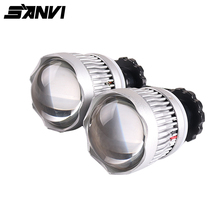 Newest 2.5 inch 25W 6000K High beam LED Projector lens Headlight for h7 9005 9006 Auto Retrofit Kit