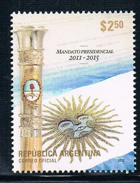 AG0006 Argentina 2012 flag 1 new 1120 presidential Scepter liberty presidential 25buw br mt
