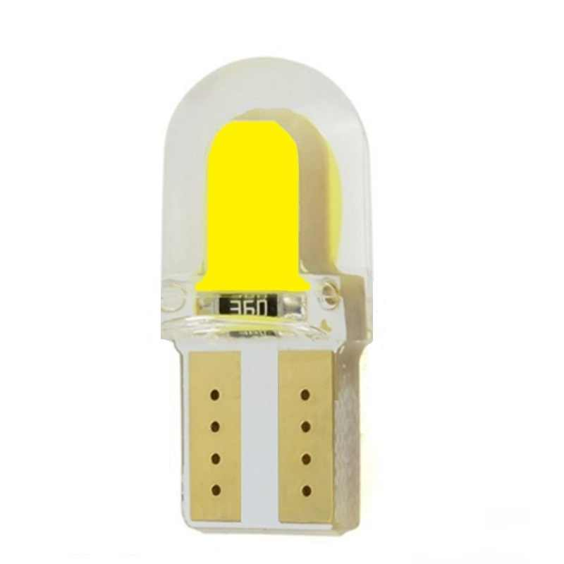 1Pcs T10 Silicone Shell COB Led Car bulb W5W 501 168 Silica gel Auto Wedge Side Light Parking License Plate bulb 12V Car Styling
