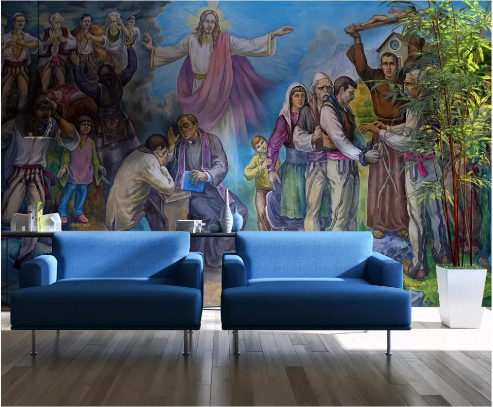 Custom Mural 3d Photo Wallpaper Jesus Christ Oil Painting