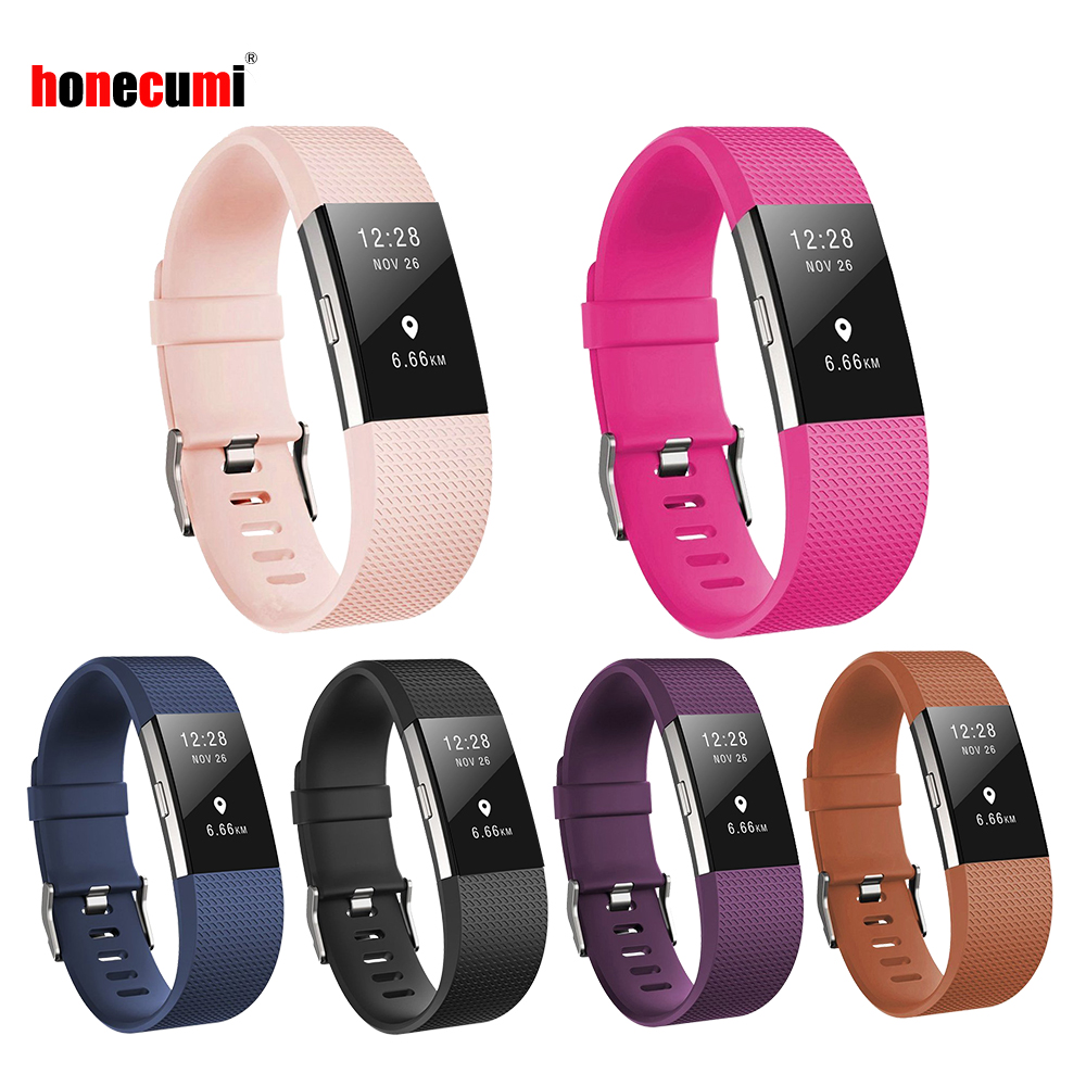 Honecumi For Fit Bit Bands Charge 2 Bands Replacement Wristbands For Fitbit Charge 2 Bracelet Strap Accessories For Women Men