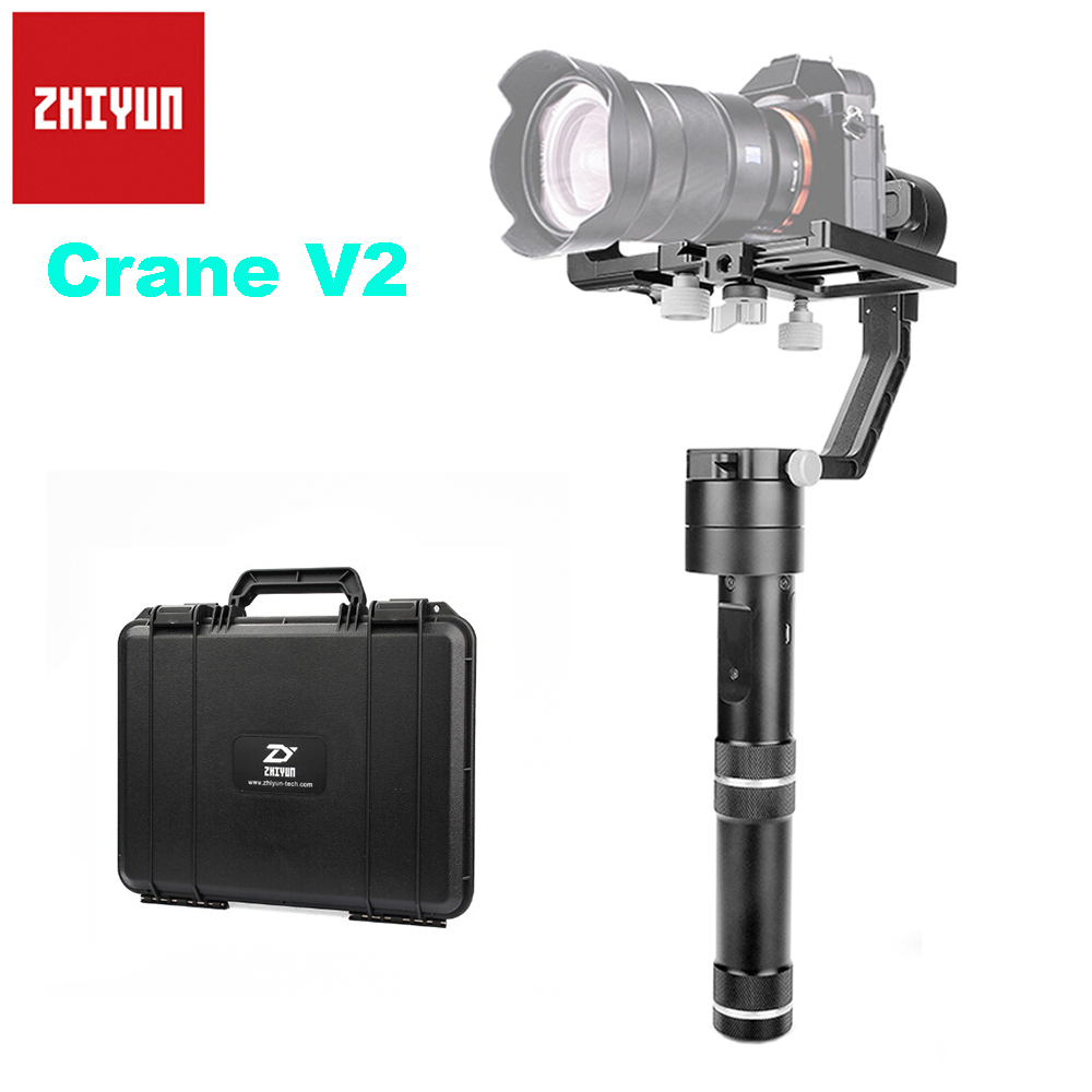 Zhiyun Official Crane V2 3-Axis Brushless Handheld Gimbal Stabilizer Support Weight 350g-1800g for Sony Canon Mirrorless Camera zhiyun crane v2 3 axis handheld gimbal stabilizer brushless motors for mirrorless camera with zw b02 remote dual handheld grip