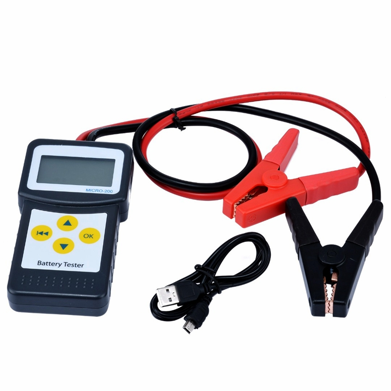Mayitr Car Repair Tools 12V Digital Car Battery Tester Auto Vehicle Battery Analyzer AGM GEL MICRO-200 Car Diagnostic Tools