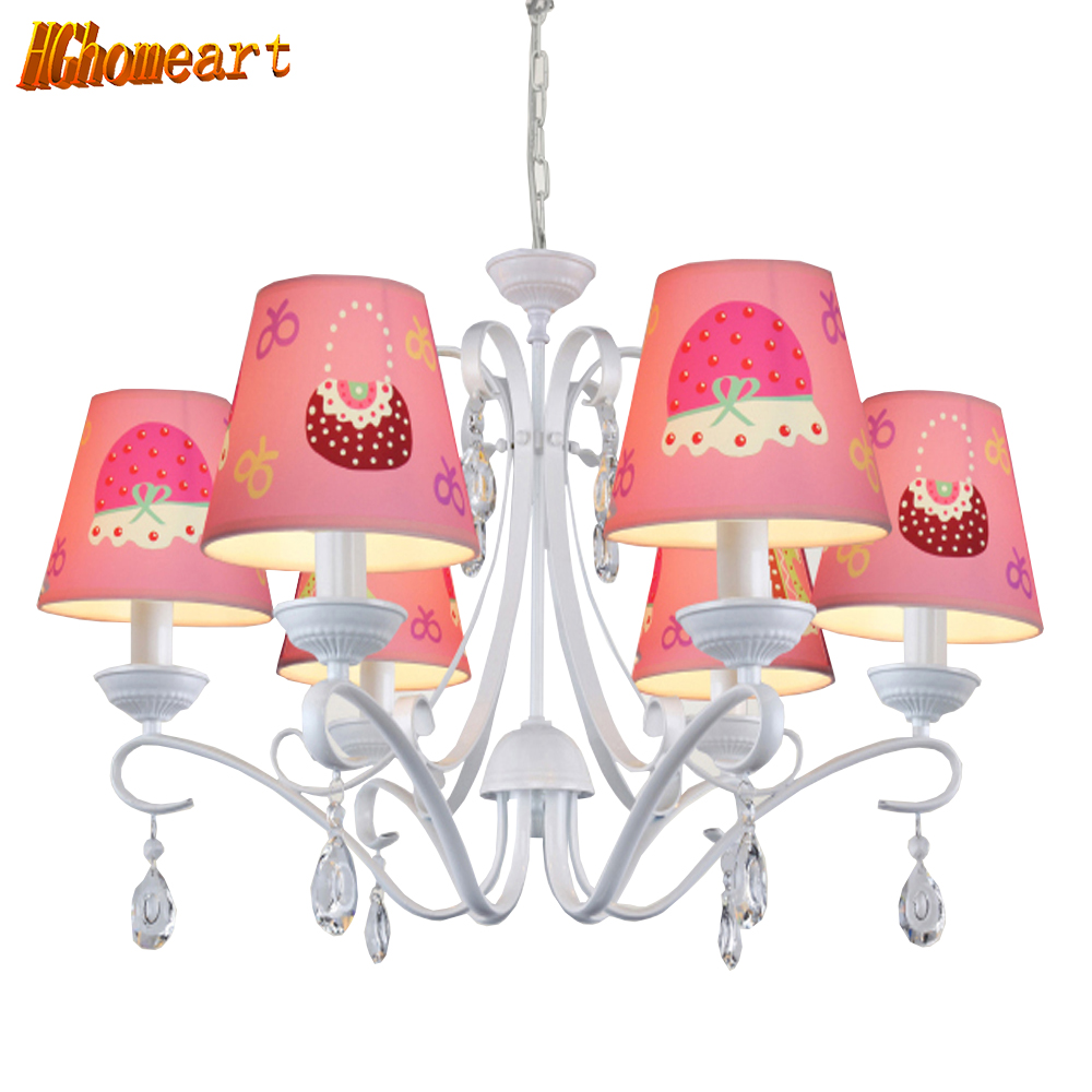 110v 220v led e14 children u0027s pink chandelier princess bedroom study cartoon light european simple