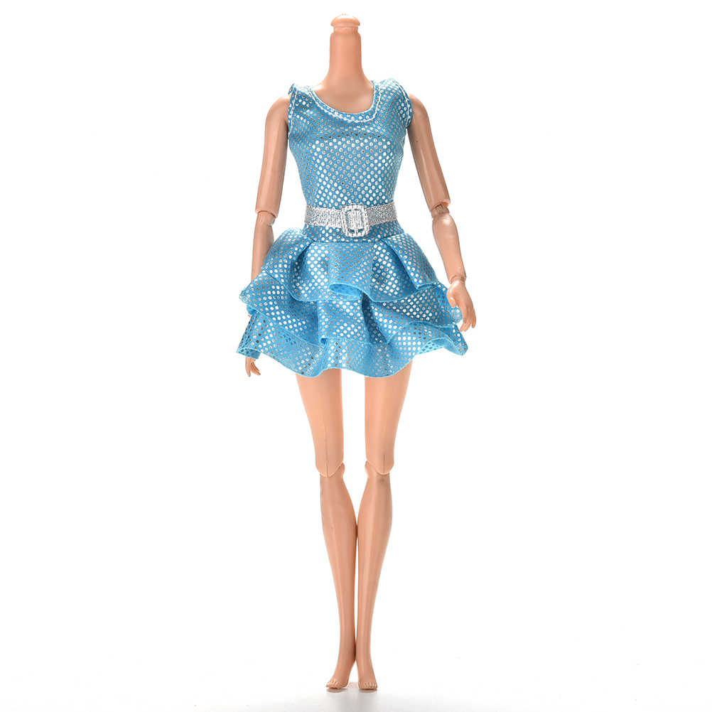 878434cc46280 Mini Diy Clothing Summer GreenDress With Belt For s Dolls Princess Sequins  Doll Girls Sexy Tank Dresses Gifts