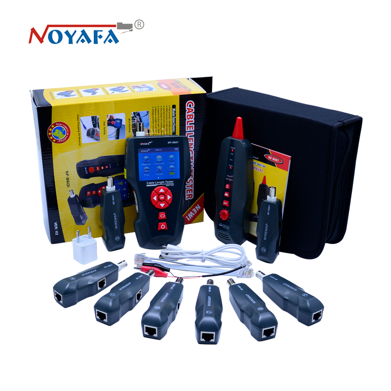 New NF 8601W Multi functional Network Cable Tester LCD Cable length Tester Breakpoint Tester English version