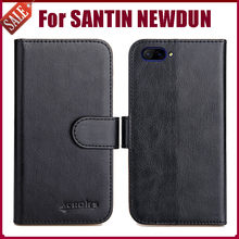 SANTIN NEWDUN Case High Quality 6 Colors Flip Leather Wallet Protective Cover For SANTIN NEWDUN Case Phone Bag Card Solts(China)