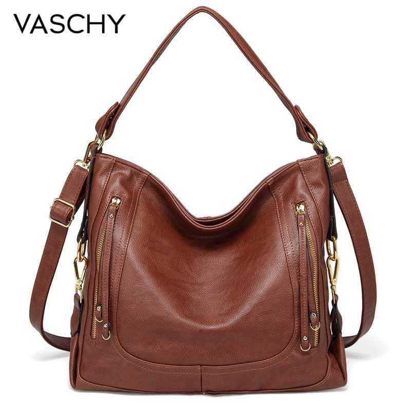 VASCHY Handbags for Women Fashion Shoulder Bag Women Casual High Quality Crossbody Messenger Bag Ladies Chic Soft Faux Leather