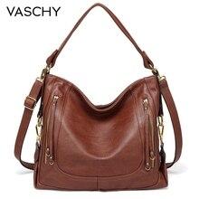 Vaschy 女性のファッションショルダーバッグの女性のカジュアル高品質クロスボディメッセンジャーバッグレディースシックなソフトフェイクレザー