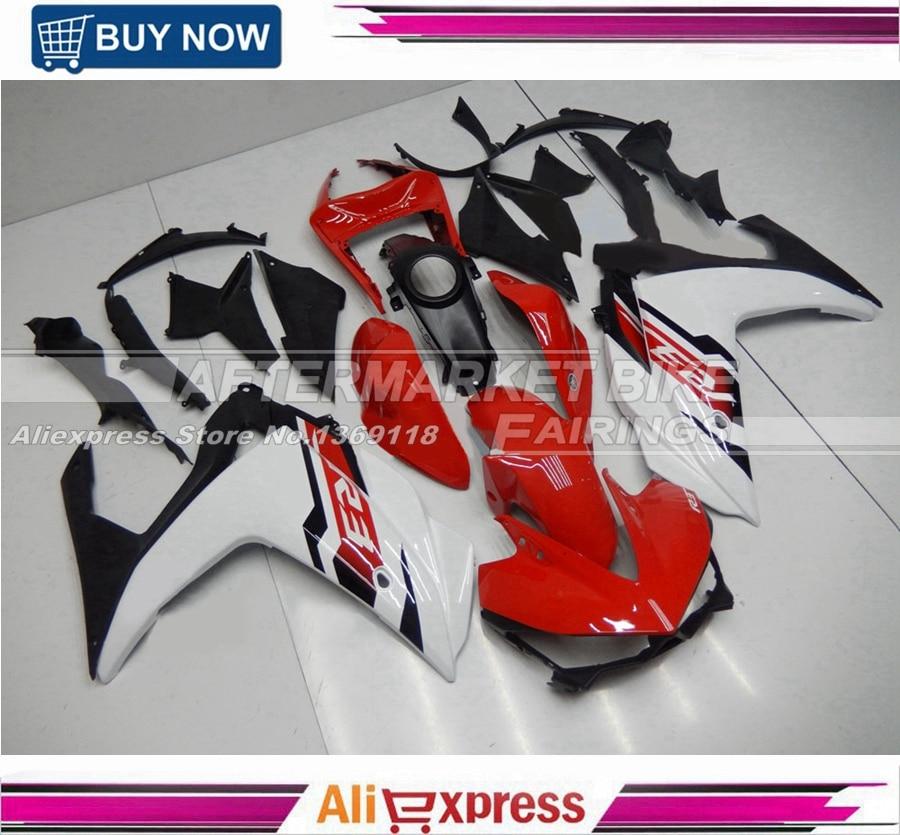 Complète Moto Carénages Pour Yamaha R25 R3 15 16 Année 2015 2016 ABS En Plastique Injection Carénage Kit Rapide-Rouge-et-Perle-Blanc