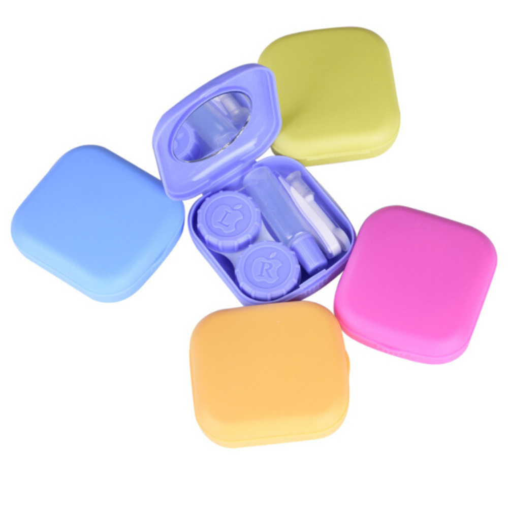 Reasonable Lymouko Multicolor Pocket Mini Plastic Contact Lens Case Travel Kit Easy Carry With Mirror Lenses Box Eyewear Accessories